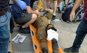 חייל פלט כדור על עצמו ברגל (צילום: שי אלבז, חדשות)