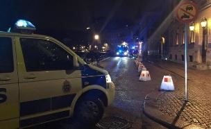 זירת ירי בשוודיה, ארכיון (צילום: מהטוויטר, חדשות)