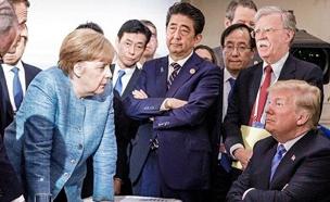 עימות בין בעלות ברית, פסגת ה-G-20 (צילום: מתוך טוויטר , חדשות)