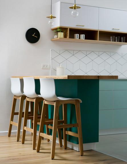 מטבחים צבעוניים, ג, 1 עיצוב רוית רזניק ומעיין מנור (צילום: שירן כרמל)