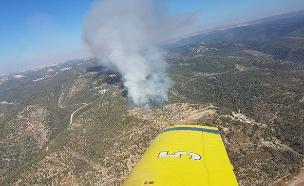 השרפה בבית מאיר, היום (צילום: חדשות)