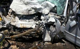 תאונת דרכים בצומת מגידו (צילום: דיווחי הרגע, חדשות)