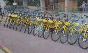 האופניים השיתופיים של Ofo ברמת גן (צילום: יאיר מור, NEXTER)