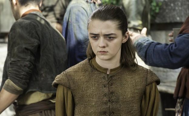 מייסי וויליאמס (אריה סטארק) ב'משחקי הכס' עונה 6 פרק 7 (צילום: באדיבות yes HBO)
