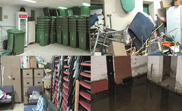 מקלטים מוזנחים ומוצפים במגזר הערבי (צילום: מתוך דוח מבקר המדינה, חדשות)