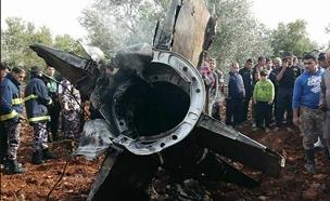 """שרידי טיל הנ""""מ ששוגר מסוריה, פברואר האחר (צילום: חדשות)"""