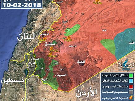 תקיפות ישראל בסוריה לפי סוריה