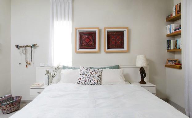 קריית חיים, עיצוב דניאלה גלבוע, חדר שינה (צילום: שירן כרמל)