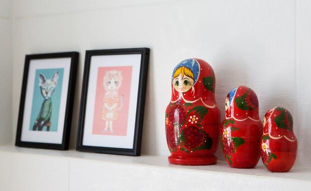 קריית חיים, עיצוב דניאלה גלבוע, מקלחת הורים (צילום: שירן כרמל)