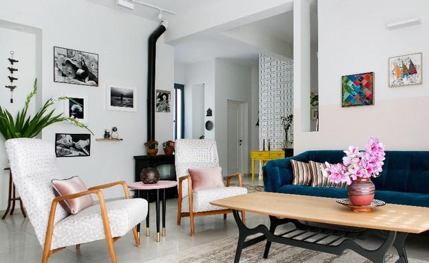 קריית חיים, עיצוב דניאלה גלבוע, סלון (צילום: שירן כרמל)