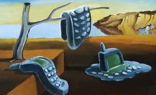 סמארטפונים נמסים, בהשראת סלבדור דאלי (איור: Elena Akkurt, shutterstock)
