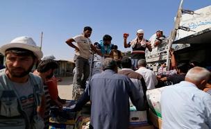 פליטים במחוז דרעא בסוריה (צילום: רויטרס, חדשות)