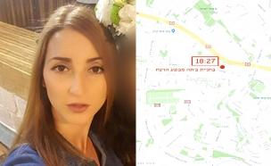 """הירש ז""""ל על רקע המסלול שעברה עד לרצח (צילום: חדשות)"""