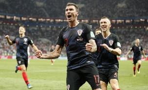 קרואטיה מול צרפת בגמר (צילום: AP, חדשות)
