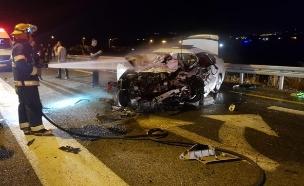 """תאונה קטלנית בגליל (צילום: תיעוד מבצעי מד""""א, חדשות)"""