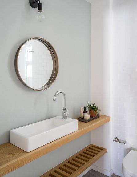 פנטהאוז בגבעתיים, ג, עיצוב דניאלה דנור, חדר רחצה - 1 (צילום: יואב פלד)
