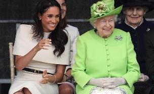 מייגן מרקל והמלכה אליזבת (צילום: מתוך עמוד האינסטגרם של קנסינגטון פאלאס)