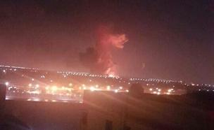 הפיצוץ בשדה התעופה בקהיר (צילום: סקיי ניוז, חדשות)