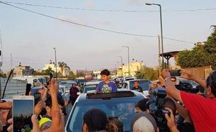 כרים ג'ומהור שב לביתו (צילום: החדשות)