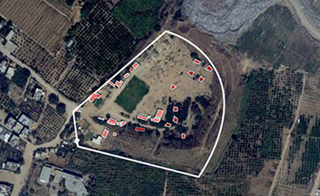 """תצ""""א ממפקדת גדוד חמאס בבית להיא (צילום: דובר צה""""ל, חדשות)"""