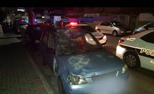 זירת התאונה בבת ים, אמש (צילום: דוברות המשטרה, חדשות)