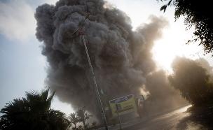תקיפה ברצועה, אתמול (צילום: AP, חדשות)