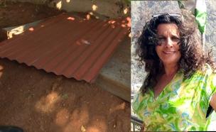 """אופירה חיים ז""""ל והמקום בו נמצאה גופתה (צילום: באדיבות המשפחה, החדשות)"""