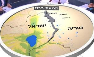 מפת רצועת הפירוז בין ישראל לסוריה (צילום: החדשות)