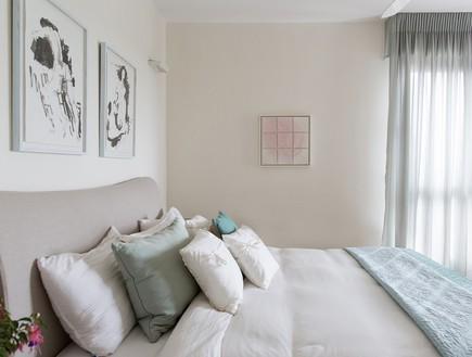 דירה ליד הים, עיצוב מיה ורונית, חדר שינה (צילום: שירן כרמל)