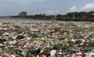 תיעוד מטריד: ים של אשפה בקריביים (צילום: רויטרס, חדשות)