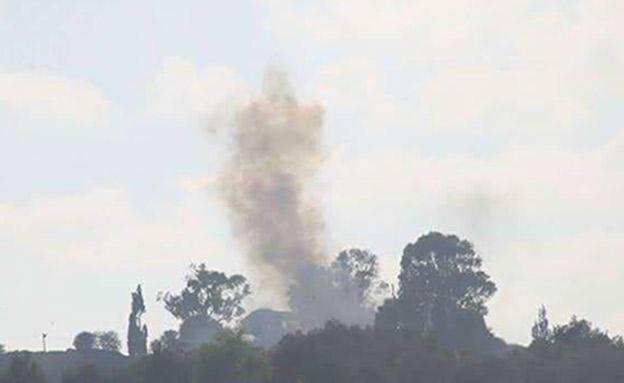 """עמדת חמאס בעזה שנפגעה מירי טנק של צה""""ל (צילום: fadi thabet)"""