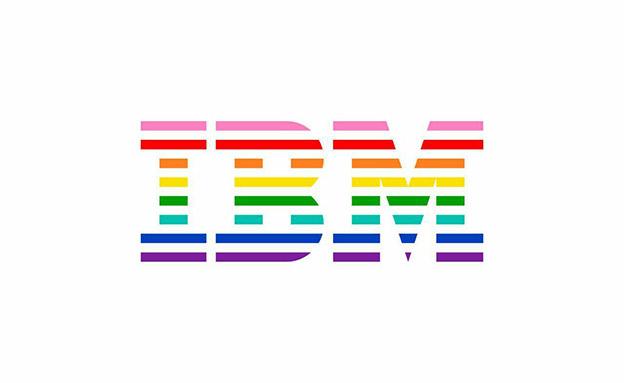 ב-IBM צבעו את הלוגו (צילום: דוברות IBM, חדשות)