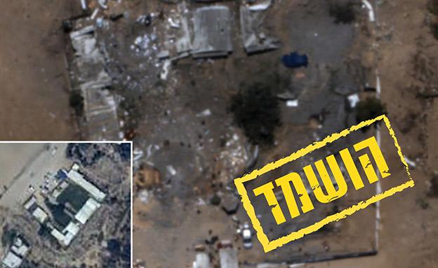 השמדת מפקדת גדוד חמאס בזיתון (צילום: דובר צה