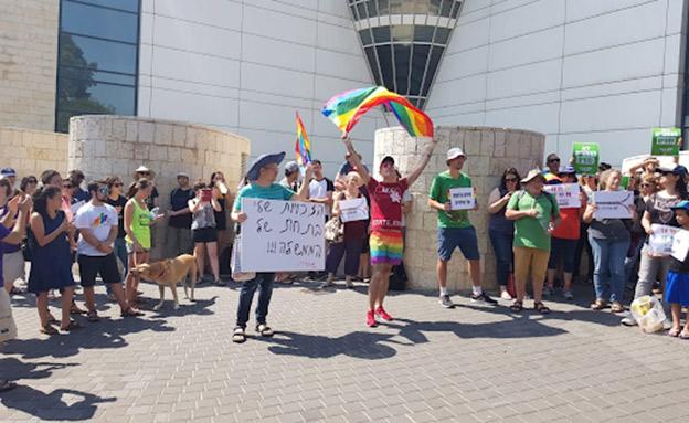 הפגנות הקהילה הגאה בחיפה (צילום: החדשות)