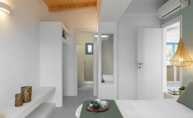 וילה בלפקאדה, עיצוב סיגל סיוון ידוב, חדר שינה (12) (צילום: טל ניסים)