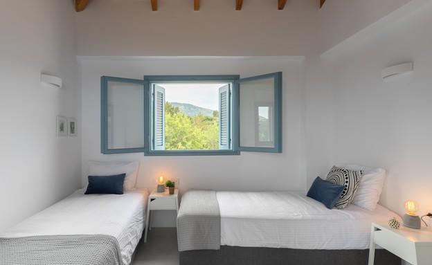 וילה בלפקאדה, עיצוב סיגל סיוון ידוב, חדר שינה 2 (20) (צילום: טל ניסים)