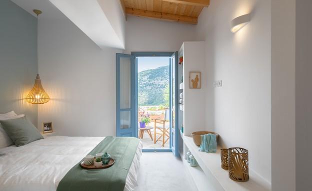 וילה בלפקאדה, עיצוב סיגל סיוון ידוב, חדר שינה (11) (צילום: טל ניסים)