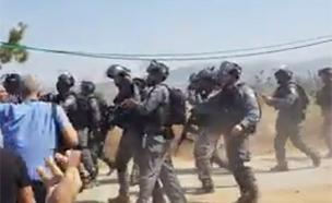 עימותים קשים עם המשטרה בסכנין (צילום: חדשות)