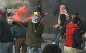 עימותים באזור הגדה (ארכיון) (צילום: Sky News, חדשות)