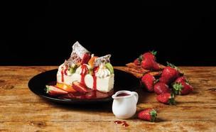 עוגת גבינה אפויה קפה קפה (צילום: בן יוסטר)