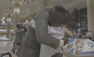 אחרי 13 שנה - פגש את בנו לראשונה (צילום: החדשות)
