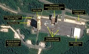 צ' קוריאה החלה לפרק מתקני טילים (צילום: Sky News, חדשות)