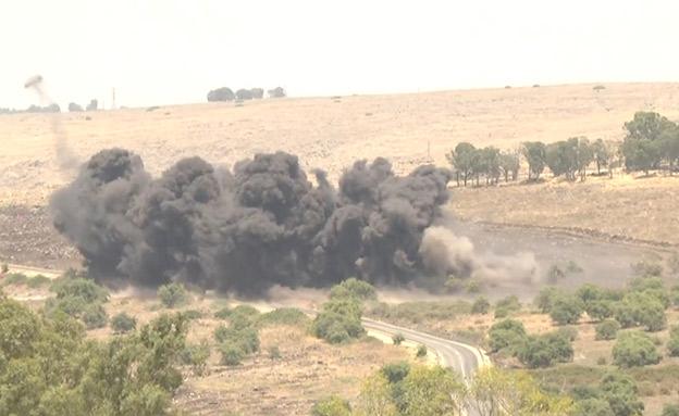 כך נראה פינוי שדה המוקשים ברמת הגולן (צילום: דוברות משרד הביטחון, חדשות)