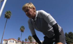 אלן דג'נרס באתגר הנינג'ה (צילום: יוטיוב)