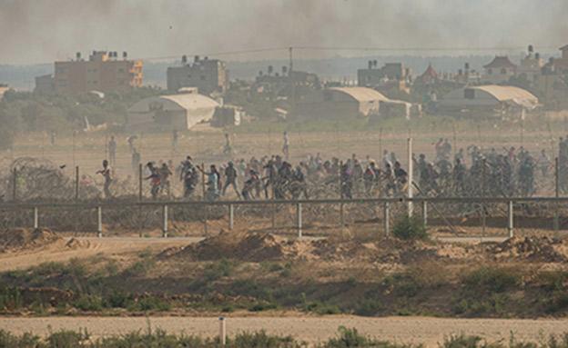 """מהומות בעזה (ארכיון) (צילום: דובר צה""""ל, חדשות)"""