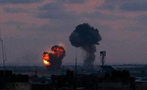 """תקיפת צה""""ל ברצועה, ב-20 ביוני (צילום: חדשות)"""
