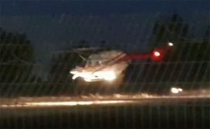 פינוי הפצעוה בדרום הרצועה (צילום: חדשות)