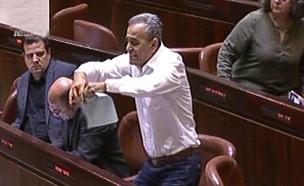 מהומה בכנסת בעקבות חוק הלאום (צילום: ערוץ הכנסת, חדשות)