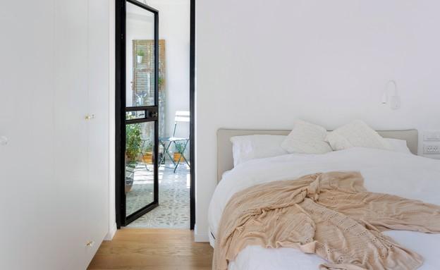דירה בבארי, עיצוב רביב בר-נוי וענת בלושטיין, חדר שינה - 4 (צילום: שי אפשטיין)