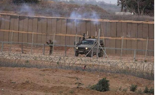 כוח גבעתי סמוך לגבול עם עזה (צילום: תקשורת חמאס, חדשות)